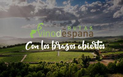Las Rutas del Vino de España te esperan 'Con los brazos abiertos'